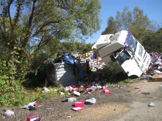ВПриморье встолкновении 2-х фургонов умер мужчина; проводится проверка