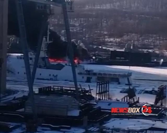 ВоВладивостоке прошло учение потушению пожара напирсе